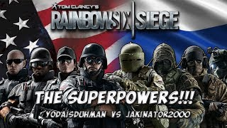 THE SUPERPOWERS!!! (2) - Country Roulette w/ Jakinator2000 - Rainbow Six Siege