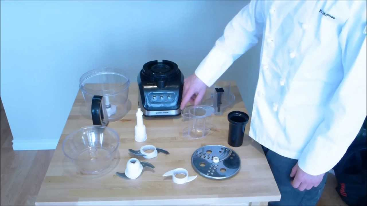 How to assemble and use a food processor - YouTube