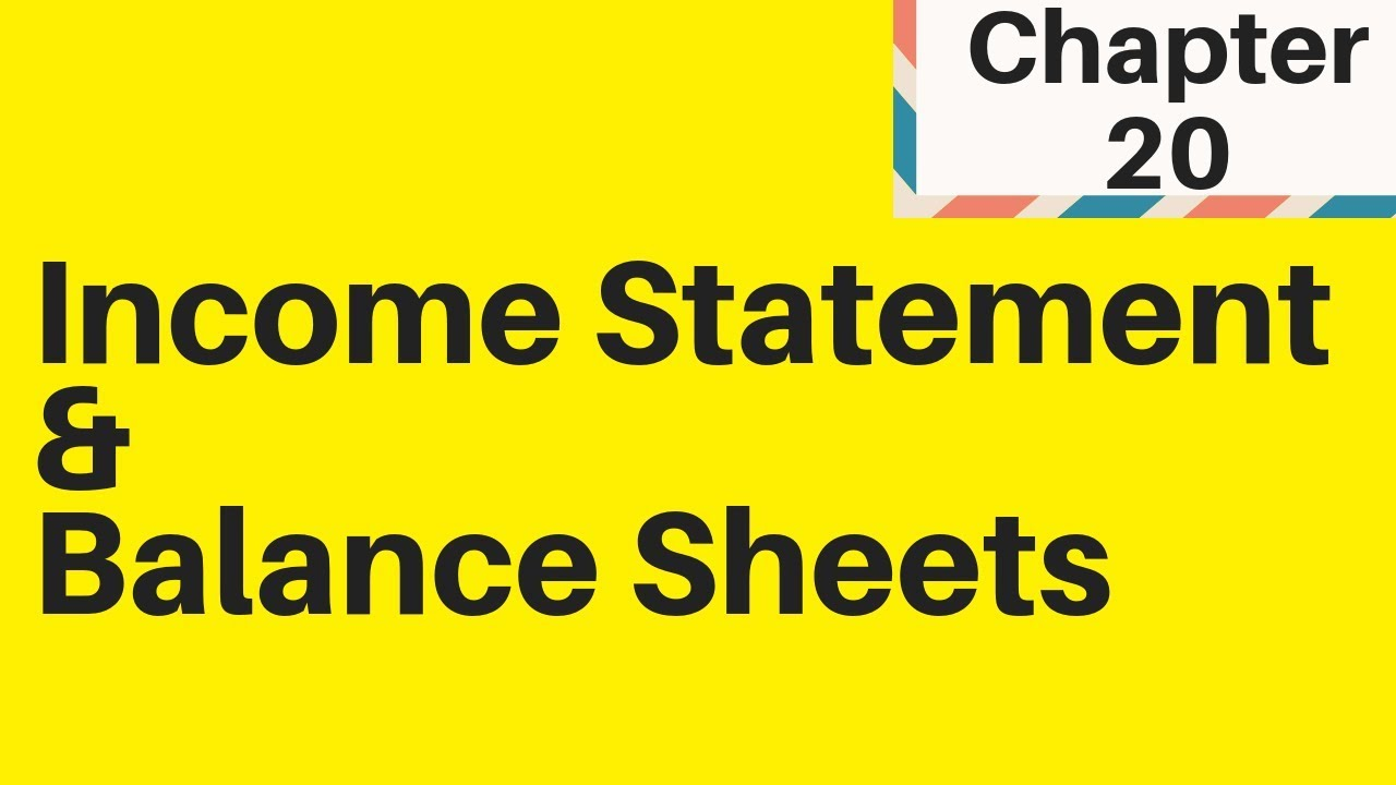 5 3 Income Statements Amp 5 4 Balance Sheets Igcse Business