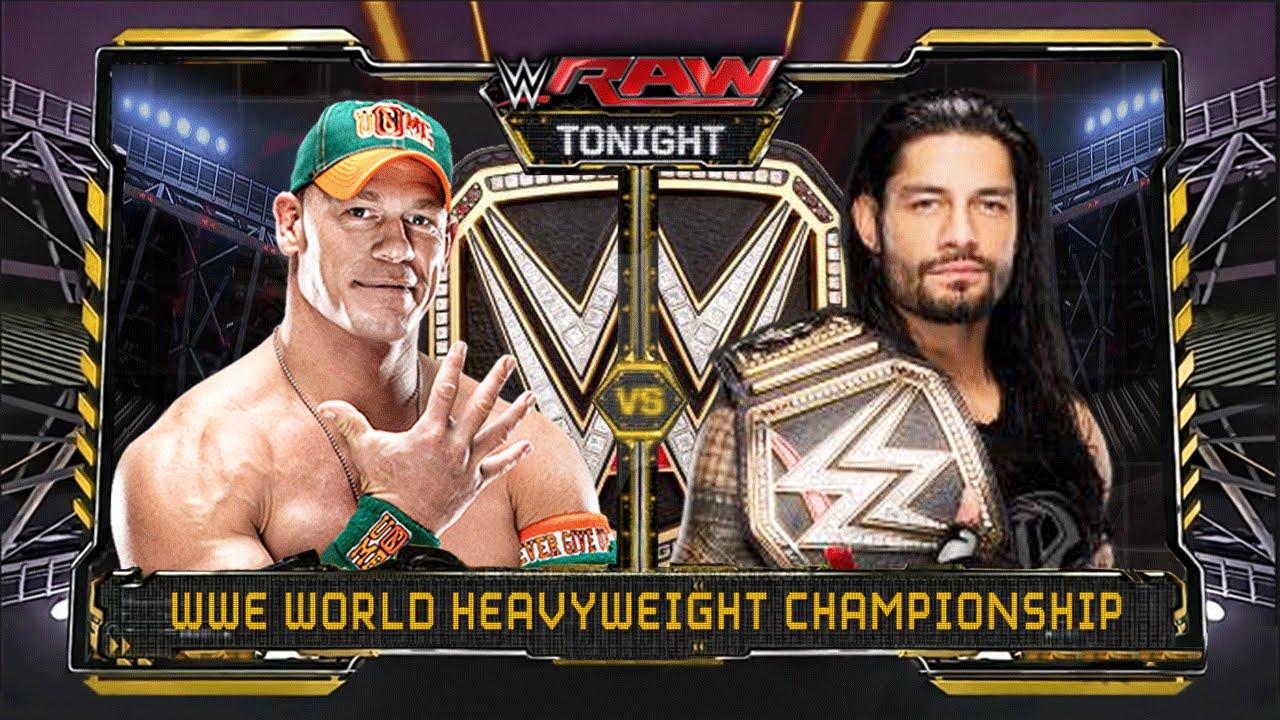 WWE RAW 1/4/16 - John Cena vs Roman Reigns - WWE World ...  WWE RAW 1/4/16 ...