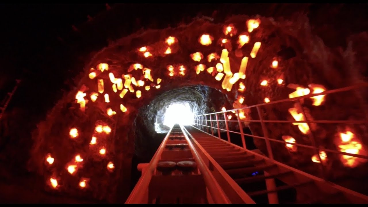 Dark Ride Roller Coaster Lights On Pov E Da Park Taiwan