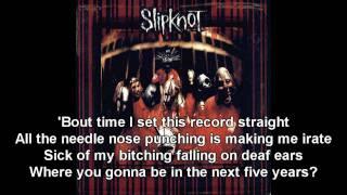 Spit It Out / Slipknot / Slipknot (Lyrics HD)