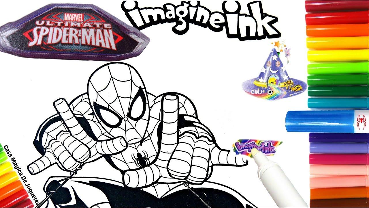 Rotulador Mágico del Hombre Araña Ultimate Spider Man de Imagine Ink ...
