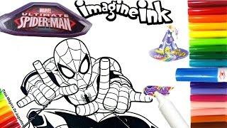 Rotulador Mágico del Hombre Araña Ultimate Spider Man de Imagine Ink en Español