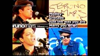 Bruno Mars Medley - Grenade, Just the way you are, Marry you (HQ-Videoke/Karaoke)