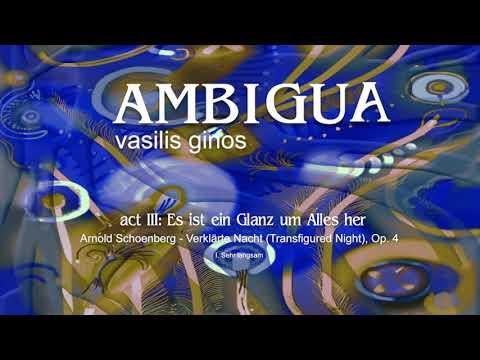 AMBIGUA, Act III:  A. Schoenberg - Verklarte Nacht, Op. 4