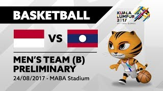 KL2017 29th SEA Games | Men's Basketball - INA 🇮🇩 vs LAO 🇱🇦 | 24/08/2017