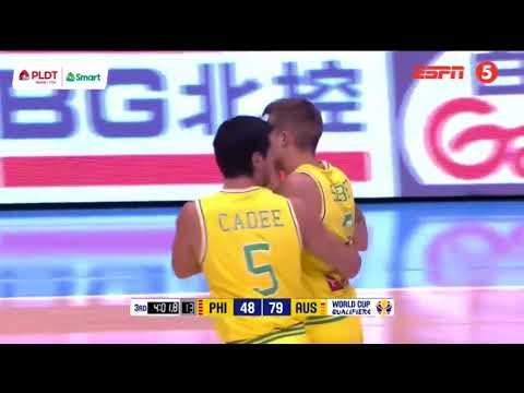 Philippines Vs Australia Rumble Fight FIBA World Cup 2019 Asian Qualifiers