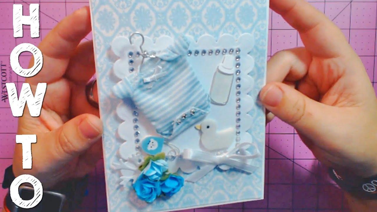 how do i make a baby shower card youtube