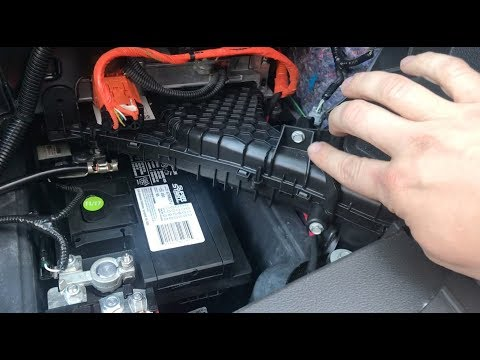 How to replace 12V battery in Ford C-Max Energi 2013-2016