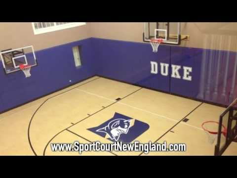 Indoor Home Gyms from Sport Court New England - YouTube