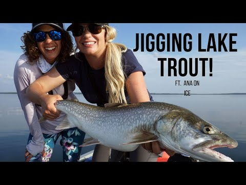 JIGGING FOR LAKE TROUT FT. ANA ON ICE | BAKERS NARROWS PART 1