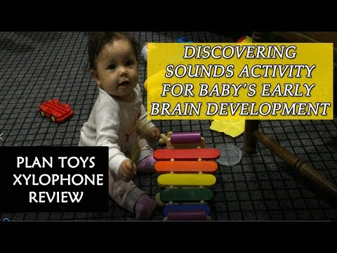 discovering-sounds-activity-for-baby's-early-brain-development-|-plan-toys-xylophone-review