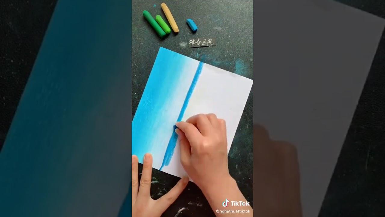 Cách Vẽ Tranh Biển Cực kỳ Dễ