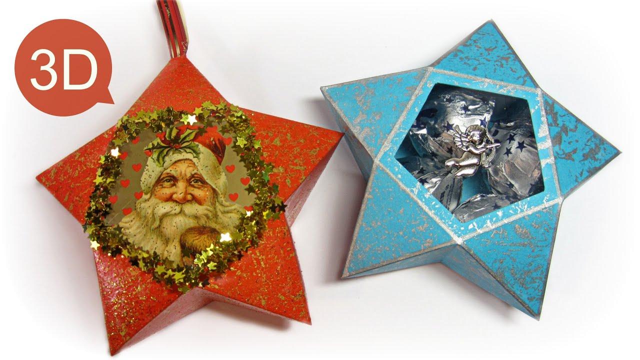 Adornos de navidad c mo hacer estrellas de papel y para - Como hacer adorno de navidad ...