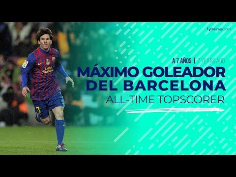 Messi: 7 años como máximo goleador del FC Barcelona