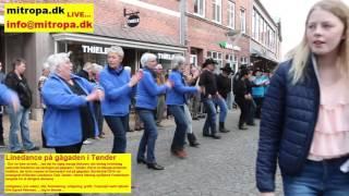 Bordertræf - Linedance på gågaden i Tønder - 2016