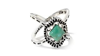 Studio Barse Turquoise Sterling Silver CrissCross Ring