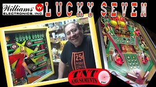 #523 Williams LUCKY SEVEN Pinball Machine - Old Fashioned Chime Coils!  TNT Amusements