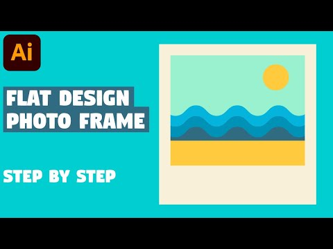 Photo Frame with beach in 5 EASY STEPS | Illustrator CC tutorial thumbnail