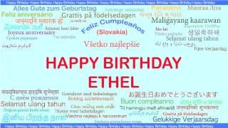 Ethel   Languages Idiomas - Happy Birthday