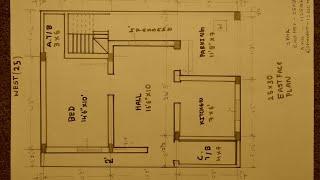 25 × 30 East face house plan
