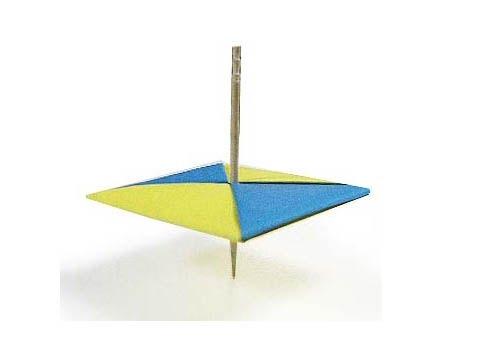 Hướng dẫn cách gấp con quay bằng giấy - Xếp hình Origami - How to make a Top