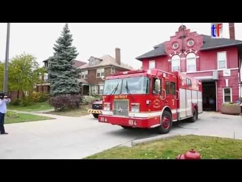 Charlie LeDuff Visit Detroit Fire Department Squad 3 - See Also Responding Squad, 10/23/2014.