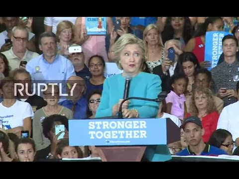LIVE: Clinton holds campaign rally in Lake Worth, Florida