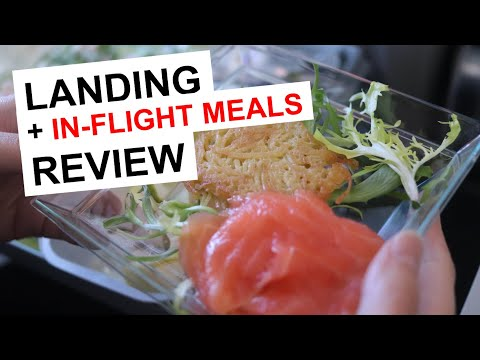 Air Baltic - Airbus A220-300 Winter Landing Into RIX (Riga, Latvia) | In-Flight Meals Review