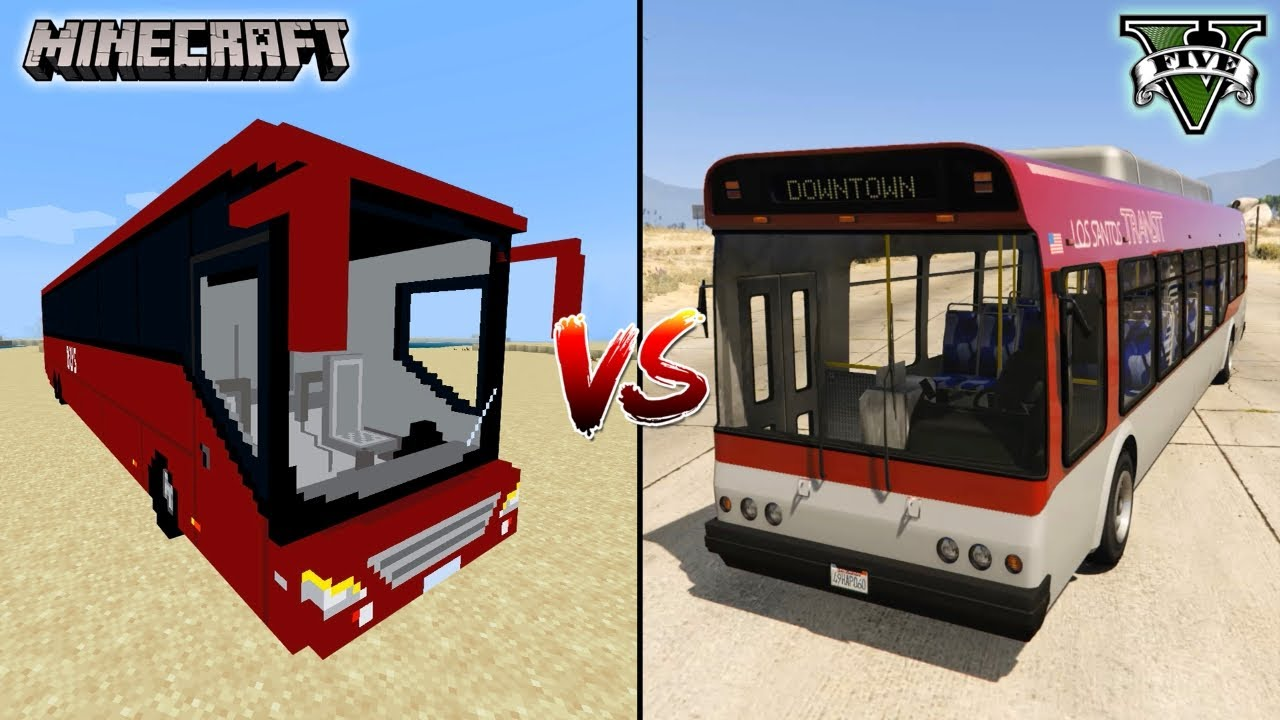 MINECRAFT BIG BUS VS GTA 5 BIG BUS - WHICH IS BEST?