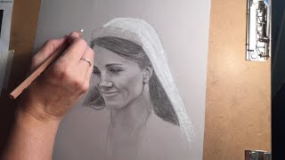 Kate Middleton Pencil Portrait Speed Drawing