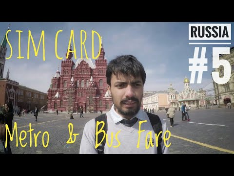 Metro & Bus in MOSCOW | Fare & Cards | Cheapest Best SimCard for Internet