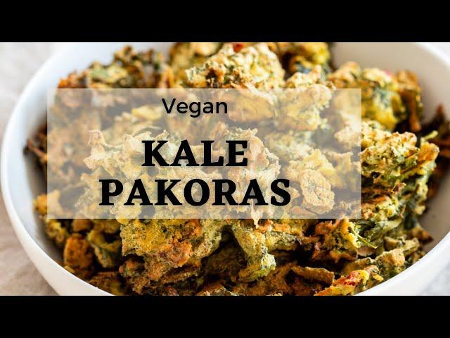 KALE PAKORA - BAKED CRISPY CHICKPEA FLOUR FRITTERS Glutenfree  | Vegan Richa Recipes