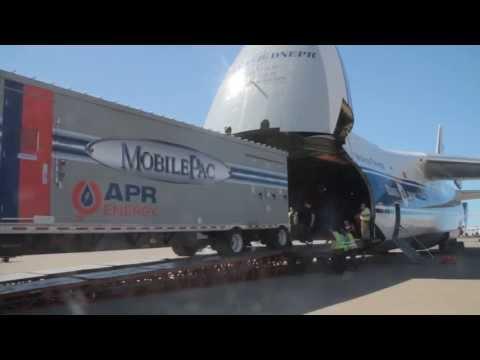 Arrival of APR Energy Mobile Gas Turbine in Libya