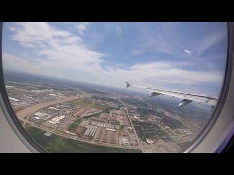 American Airlines Take Off - Landing Flight from Dallas Forth Worth to Denver, Colorado