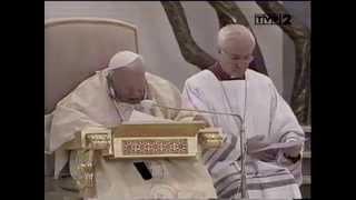 św. Jan Paweł II - homilia i akt zawierzenia świata Bożemu Miłosierdziu Kraków-Łagiewniki 17 08 2002
