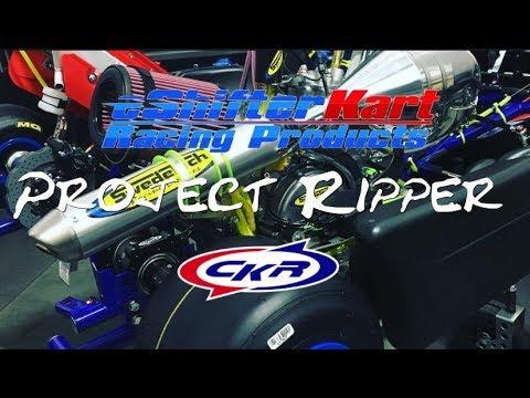 eShifter Kart Project Ripper 2017 CKR Modified Swedetech Honda CR125 - Crazy Fast Kart
