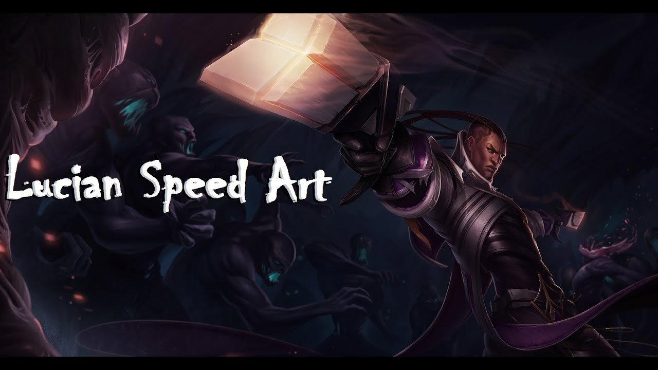 League of Legends Speed Art: Lucian - YouTube