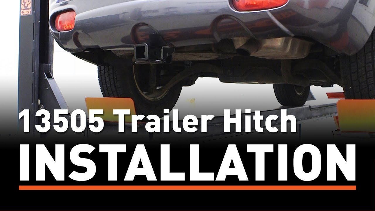 trailer hitch install curt 13505 on a hyundai santa fe [ 1280 x 720 Pixel ]