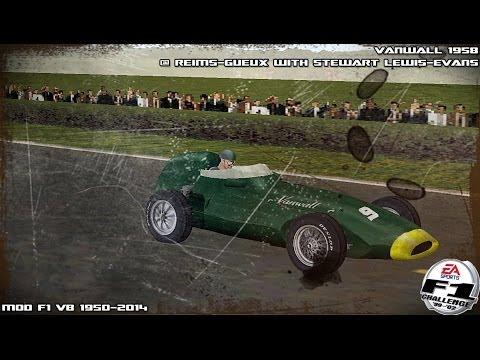 [F1C] Vanwall 1958 #9 @ Reims with Stuart Lewis-Evans (Mod F1 VB 1950-2014) [HD]