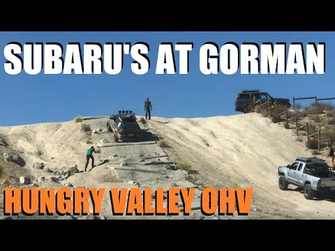 Subaru's at Gorman, CA - Hungry valley SRVA on weekend of 10-28-17