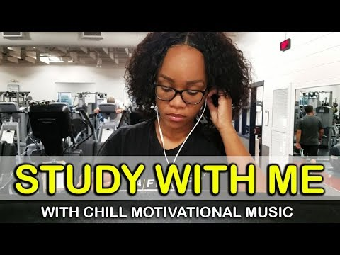 Study with Me at the Gym - (Real Time w/ Chill Motivational Music)