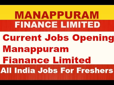 jobs in manappuram finance limited