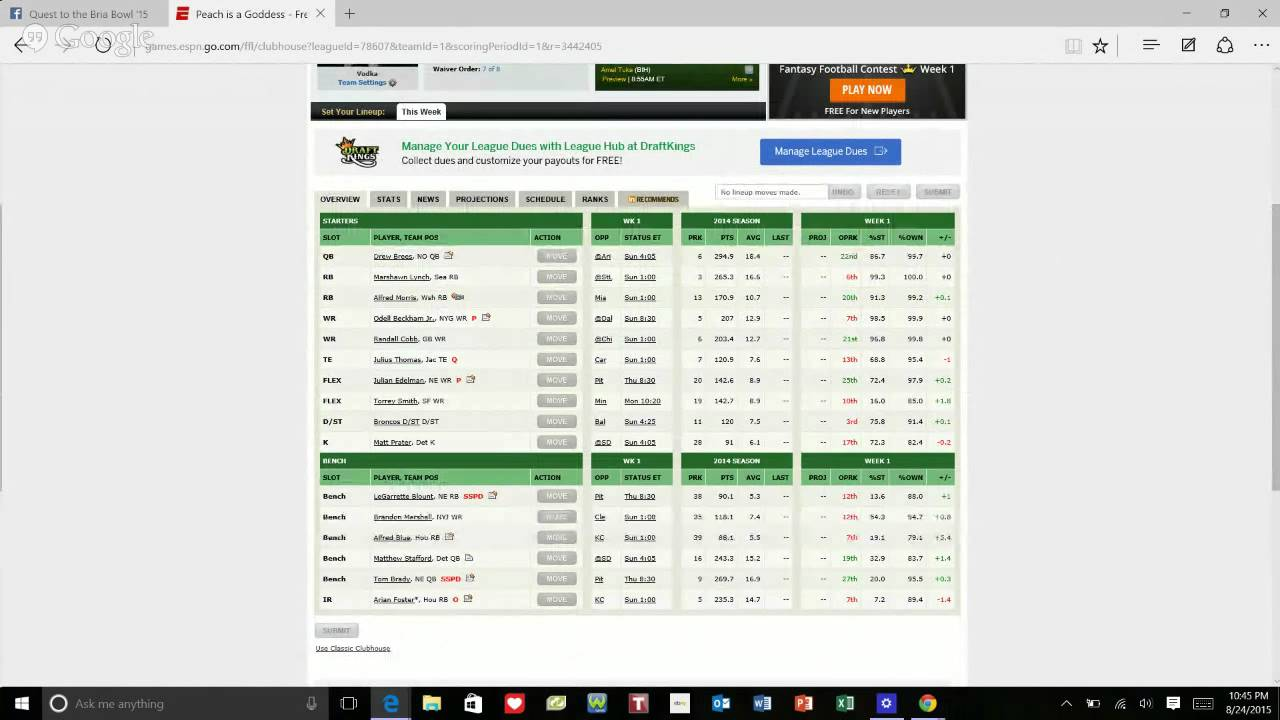 How To Edit Your Espn Lineup
