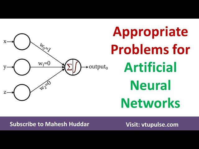 Artificial Neural Networks | ANN | Appropriate Problems for ANN by Mahesh Huddar