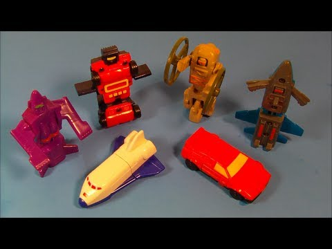 1986 Gobots Set Of 6 Wendy S Kid S Meal Toy S Video Review