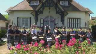 St Andrews Pipe Band rehearsal in Normandy for 70th Anniversary of D-Day Landings 2014