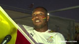 Ghana fans celebrate draw against Germany