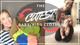 CUTEST EVER BABY/KIDS CLOTHING HAUL    June and January